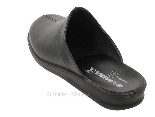 Romika Hausschuhe PRÄSIDENT Pantoffeln Leder mit Lederfutter 79050 NEU